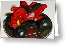 4 Wheeling On A Dime Greeting Card