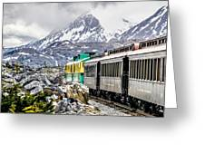 White Pass Mountains In British Columbia Greeting Card