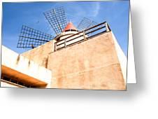 Windmill - Trapani Salt Flats Greeting Card