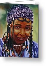 Winnie Mandela Greeting Card by Shahid Muqaddim