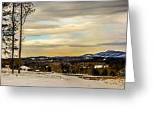 Winter Landscape And Snow Covered Roads In The Mountains Greeting Card