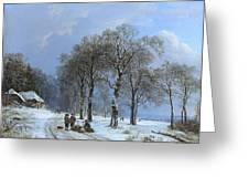 Winterlandschap Greeting Card