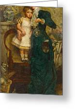 Woman With Child And Goldfish Greeting Card