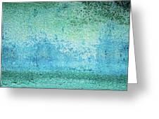 Yacht Hull Erosion Patterns Greeting Card