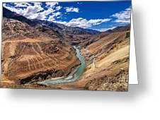 Zanskar River Ladakh Jammu And Kashmir India Greeting Card