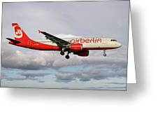 Air Berlin Airbus A320-214 Greeting Card