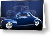 40 Ford Coupe Greeting Card