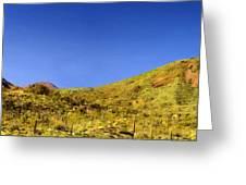 Framed Landscape Art Greeting Card