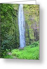 400 Foot Waimoku Falls Maui Greeting Card by Pierre Leclerc Photography