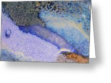 42. V1 Blue Purple Black Glaze Painting Greeting Card
