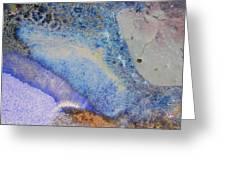 42. V2 Blue Purple Orange Black Glaze Painting Greeting Card