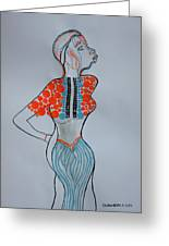 Dinka Lady - South Sudan Greeting Card