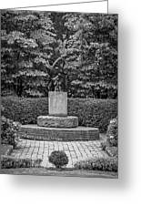 4387- Sculpture Black And Whi Greeting Card