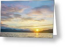 Beautiful Landscape Scenes At Lake Jocassee South Carolina Greeting Card