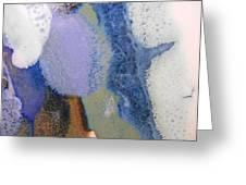 44. Blue Purple White Glaze Painting Greeting Card