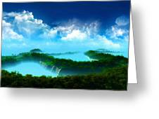 Landscape Oil Painting On Canvas Greeting Card