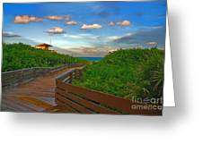 44- Ocean Reef Park Singer Island Greeting Card