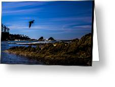 Sunset Bay Beach Greeting Card
