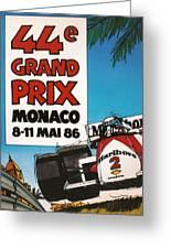 44th Monaco Grand Prix 1986 Greeting Card