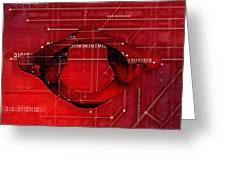 Atlas Anatomy Art Greeting Card