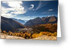 Graphic Landscape Greeting Card