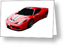 458 Speciale Greeting Card