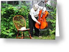 Female Cellist. Greeting Card