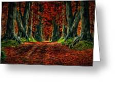 Landscape Wall Art Greeting Card
