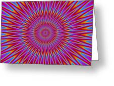 Psycho Hypno Floral Pattern Greeting Card