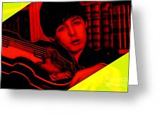 Paul Mccartney Collection Greeting Card