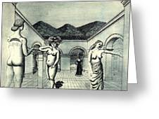 4dpict Mn Paul Delvaux Greeting Card