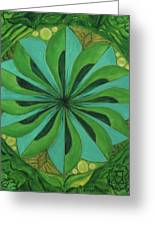 4th Mandala - Heart Chakra Greeting Card