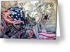 4th Of July Cycle Greeting Card