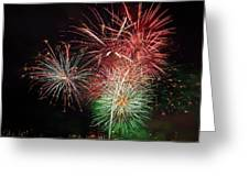 4th Of July Fireworks Display Portland Oregon Greeting Card