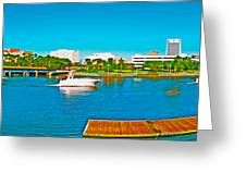 4x1 Downtown Tampa Panorama Greeting Card