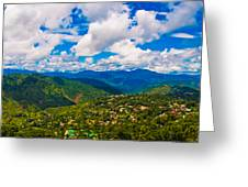 4x1 Philippines Panorama Baguio Greeting Card