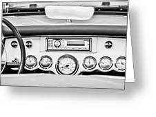 1954 Chevrolet Corvette Dashboard Greeting Card