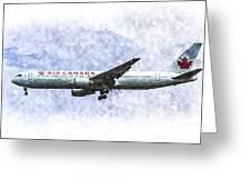 Air Canada Boeing 777 Art Greeting Card