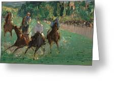 At The Races Greeting Card