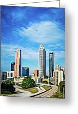 Atlanta Downtown Skyline With Blue Sky Greeting Card