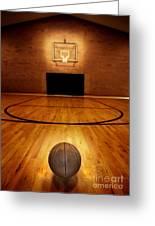 Basketball And Basketball Court Greeting Card