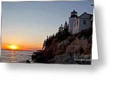 Bass Harbor Head Lighthouse Acadia National Park Greeting Card