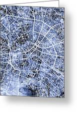 Berlin Germany City Map Greeting Card