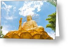 Big Golden Buddha Greeting Card