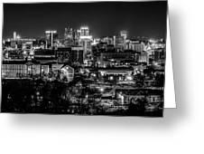 Birmingham Alabama Evening Skyline Greeting Card