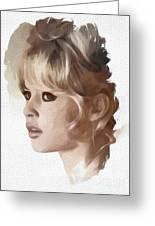 Brigitte Bardot, Actress Greeting Card