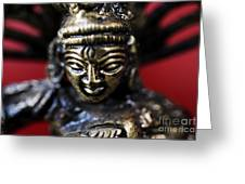 Buddha Sculpture Greeting Card