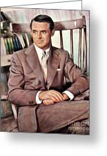Cary Grant, Vintage Actor Greeting Card