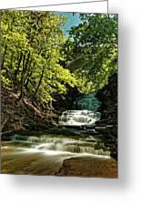 Cascadilla Gorge Falls Greeting Card