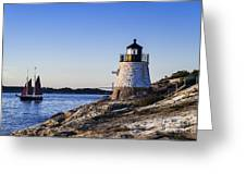 Castle Hill Lighthouse Greeting Card by John Greim